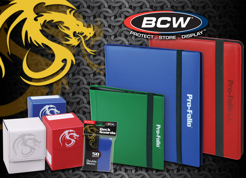 The base line of BCW gaming products.