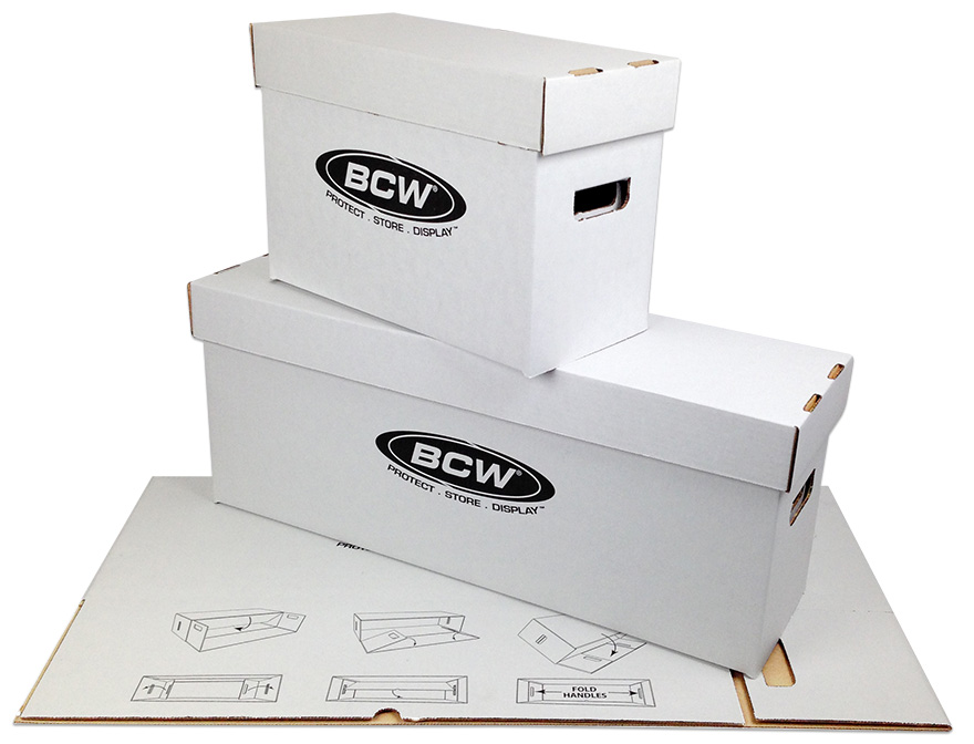 The new BCW Short and Long Comic Boxes