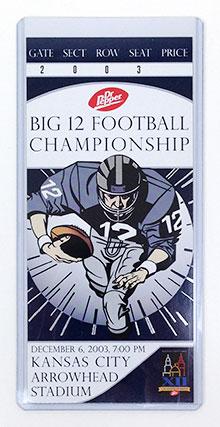 Big 12 Football Championship commemorative ticket