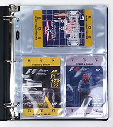 US Grand Prix tickets in a BCW 3-Pocket Photo Pages