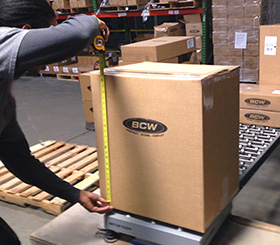 Getting an accurate weight and dimension of BCW packages is key to efficient shipping.