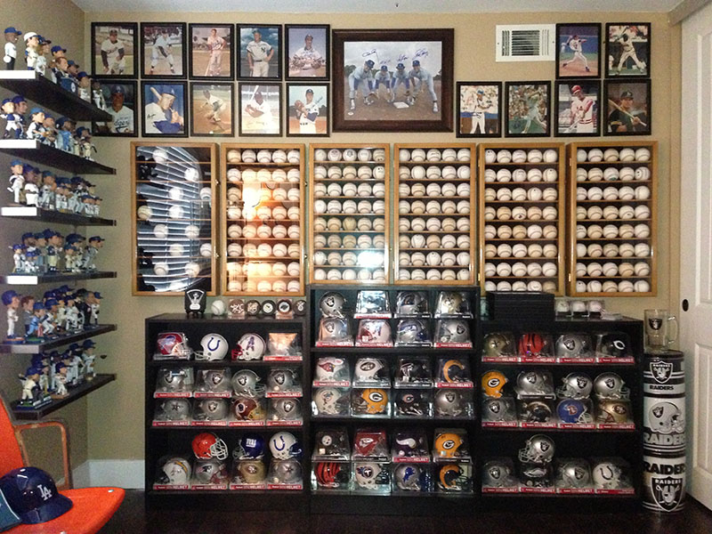 Baseballs, bobble heads and mini helmets