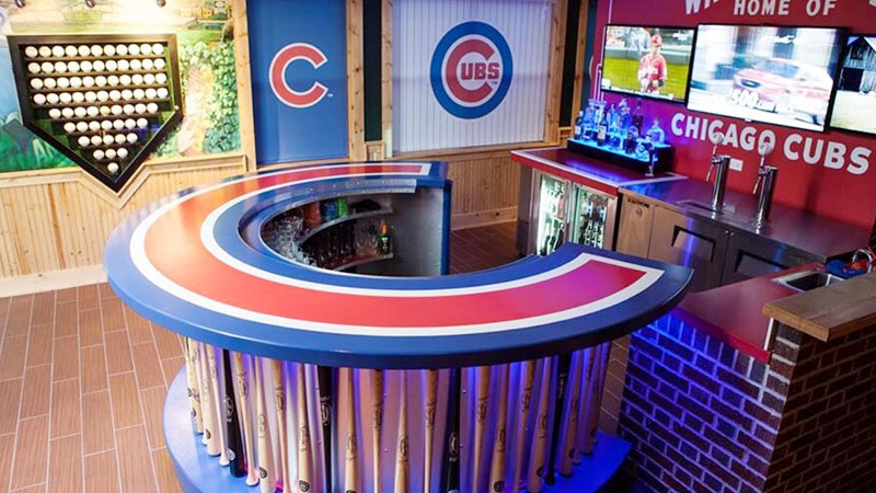 Chicago Cubs Man Cave