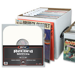 33 RPM Record Sleeves, Dividers, and Storage Box