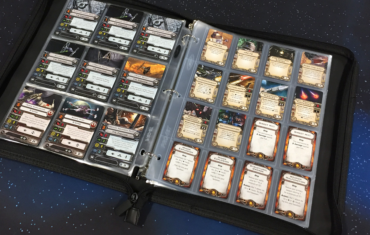 X-Wing cards in BCW 9-Pocket and 16-Pocket pages