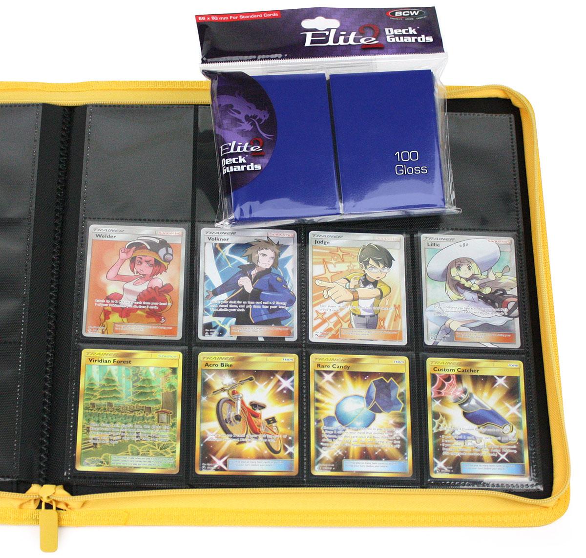 300 Matte Black MTG BCW Deck Guards CCG Pokemon Gaming Card Sleeves 6 New Packs