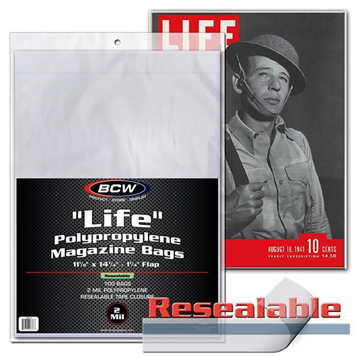 Resealable Life Magazine Bags