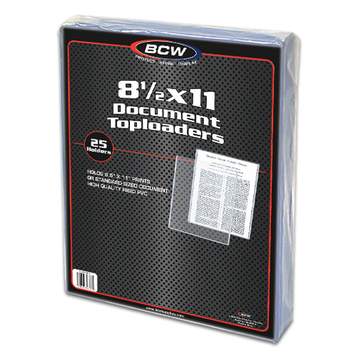 8.5x11 Document Toploaders