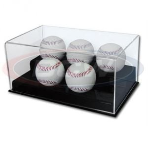 ACRYLIC 5 BASEBALL DISPLAY