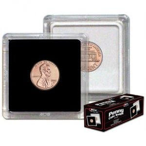 2x2 COIN SNAP - PENNY - BLACK