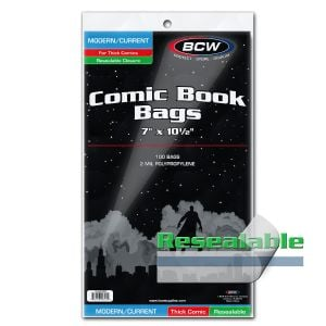 RESEALABLE CURRENT COMIC BAGS - THICK