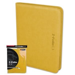 Z-Folio 9-Pocket LX Album - Yellow