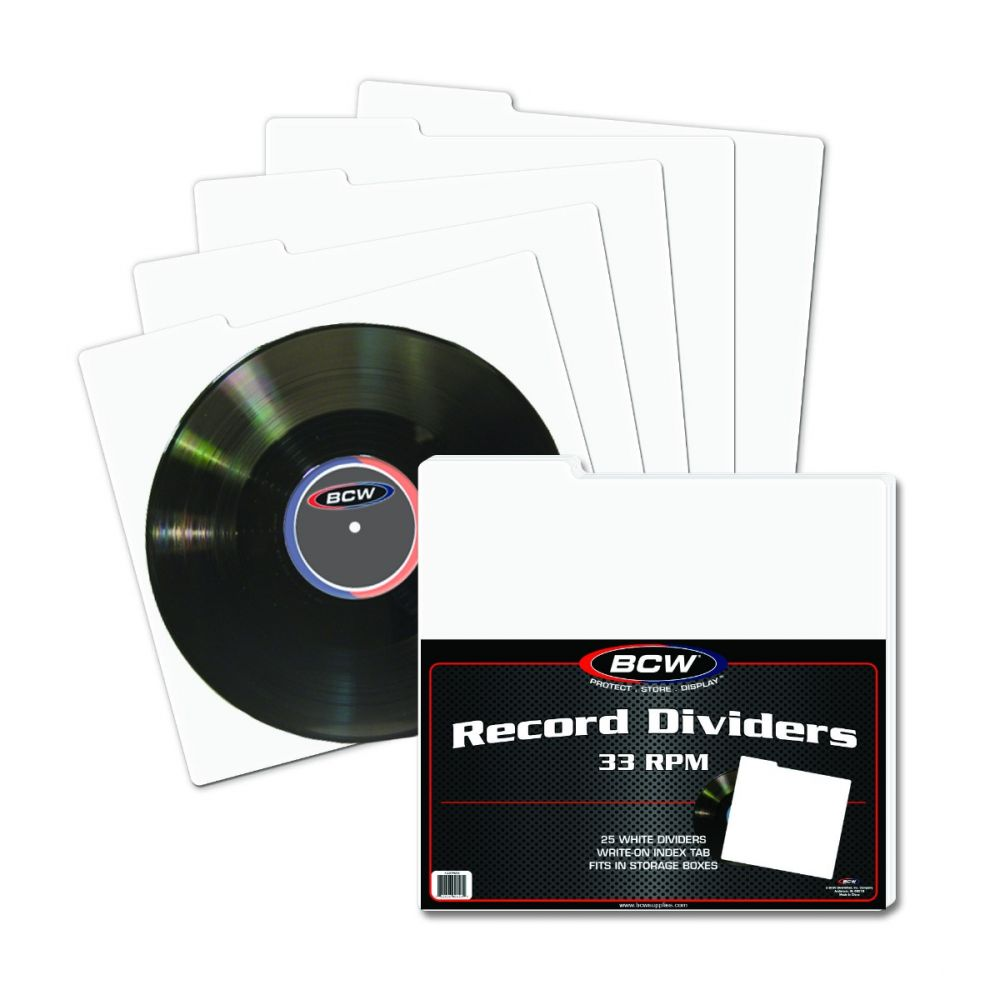 BCW Magazine Dividers Pack of 25 White w// Write On Index Tabs Archival Quality