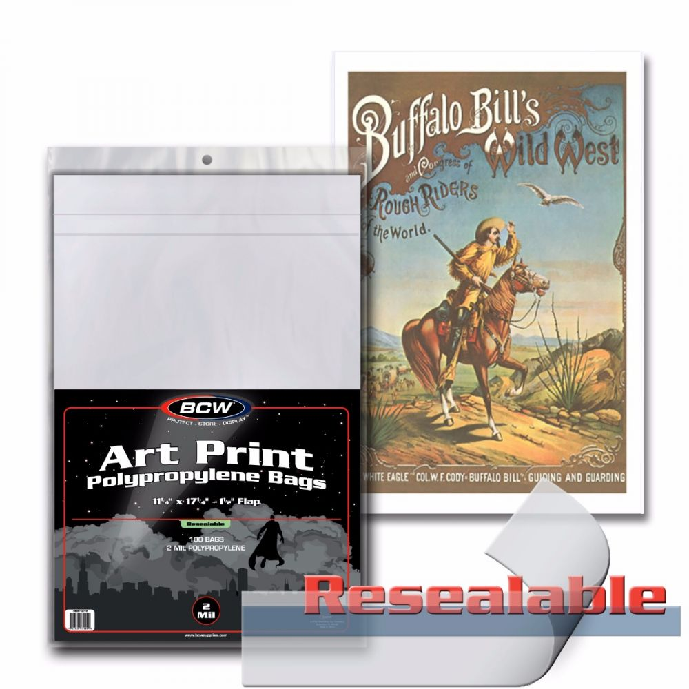 Pack of 100 BCW Sheet Music Size Archival 2 mil Poly Bags protectors covers
