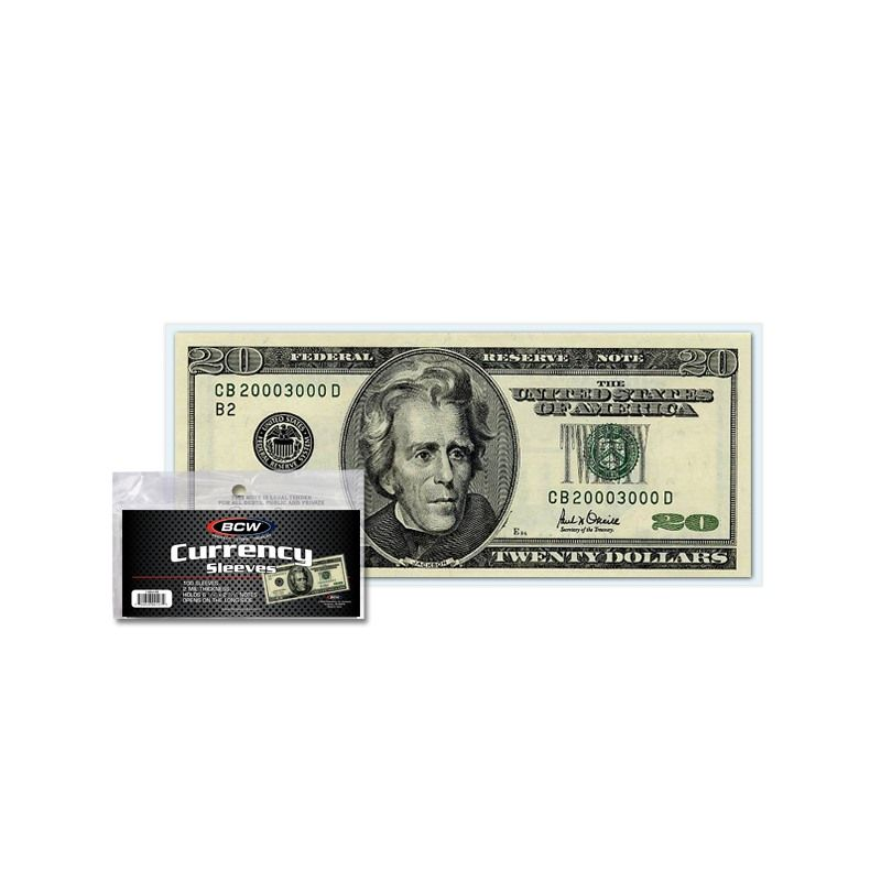 10 Regular Bill 2 11//16 X 6 1//4 BCW Deluxe Currency Slab