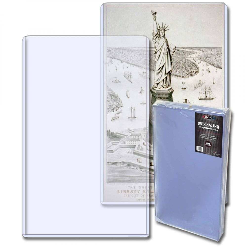 Topload Photo Holders Storage Protection 1 Pack of 20 BCW 8.5 X 14