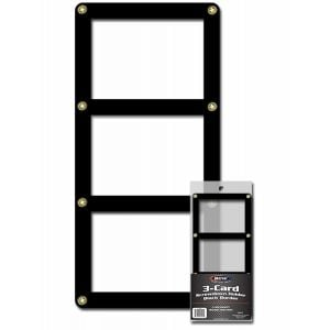 3 CARD SCREWDOWN HOLDER - BLACK BORDER