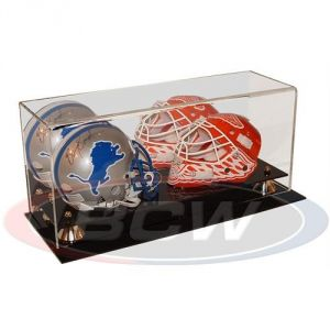 ACRYLIC DOUBLE MINI HELMET DISPLAY