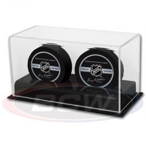 ACRYLIC DOUBLE HOCKEY PUCK DISPLAY