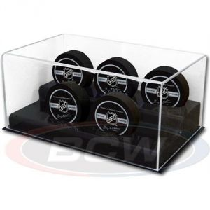 ACRYLIC 5 HOCKEY PUCK DISPLAY