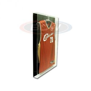 ACRYLIC SMALL JERSEY DISPLAY - BLACK BACK