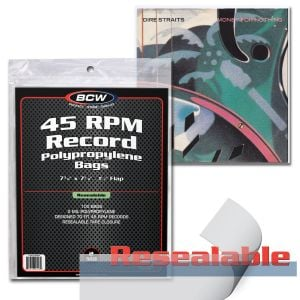 RESEALABLE 45 RPM RECORD BAGS
