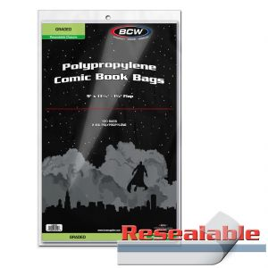 RESEALABLE BAG FOR GRADED COMICS - 8.5 X 13 7/16