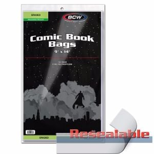 Resealable Bag for Graded Comics - 9 X 14