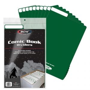 COMIC BOOK DIVIDERS - GREEN