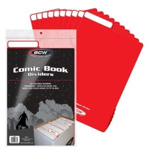 COMIC BOOK DIVIDERS - RED