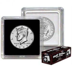 2x2 COIN SNAP - HALF DOLLAR - BLACK