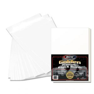 PREMADE GOLDEN COMIC BAG AND BOARD