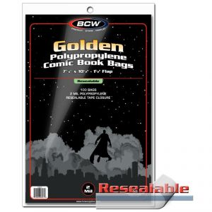 RESEALABLE GOLDEN COMIC BAGS