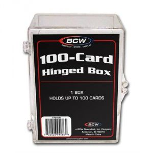 HINGED TRADING CARD BOX - 100 COUNT