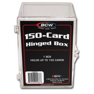 HINGED TRADING CARD BOX - 150 COUNT