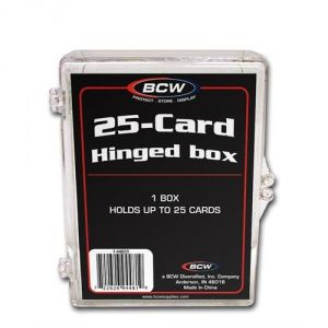 HINGED TRADING CARD BOX - 25 COUNT