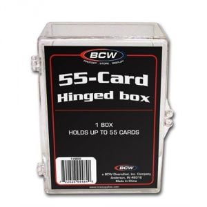 HINGED TRADING CARD BOX - 55 COUNT