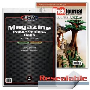 RESEALABLE MAGAZINE BAGS - THICK