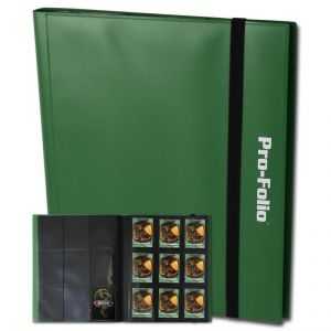 PRO-FOLIO 9-POCKET ALBUM - GREEN