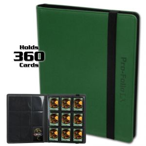 PRO-FOLIO 9-POCKET LX ALBUM - GREEN