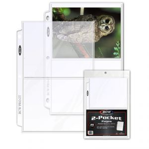 PRO 2-POCKET PHOTO PAGE (20 CT. PACK)