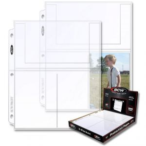 PRO 3-POCKET PHOTO PAGE (100 CT. BOX)