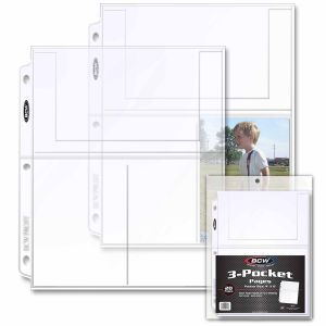 PRO 3-POCKET PHOTO PAGE (20 CT.PACK)
