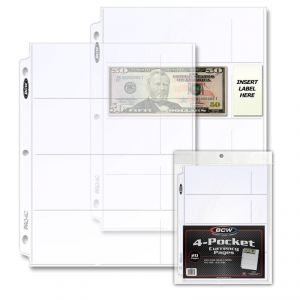 PRO 4 POCKET CURRENCY PAGE (20 CT. PACK)