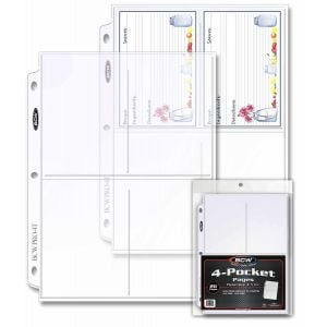 PRO 4-POCKET PHOTO PAGES (20 CT. PACK)