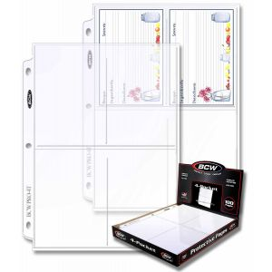 pro 4 pocket photo pages 100 ct box