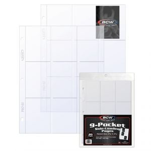 PRO 9-POCKET PAGE - SIDE LOAD - (20 CT. PACK)