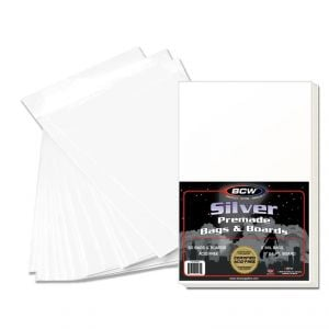 PREMADE SILVER COMIC BAG AND BOARD