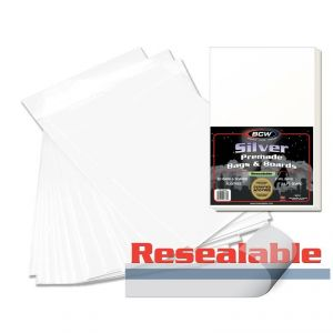 PREMADE RESEALABLE SILVER AGE BAG AND BOARD