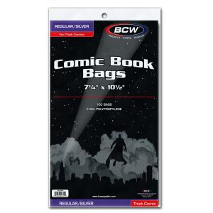 SILVER COMIC BAGS - THICK